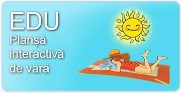 Planșă interactivă de vară