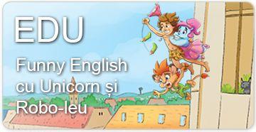 Funny English cu Unicorn și Robo-leu